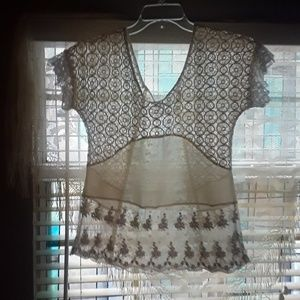 Gimmicks lace and sheer top